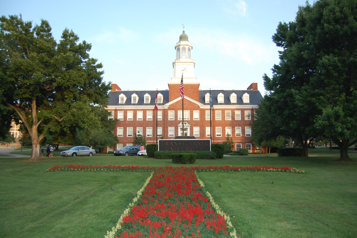 Transylvania Lawn on campus of Transylvania University, founded in 1780