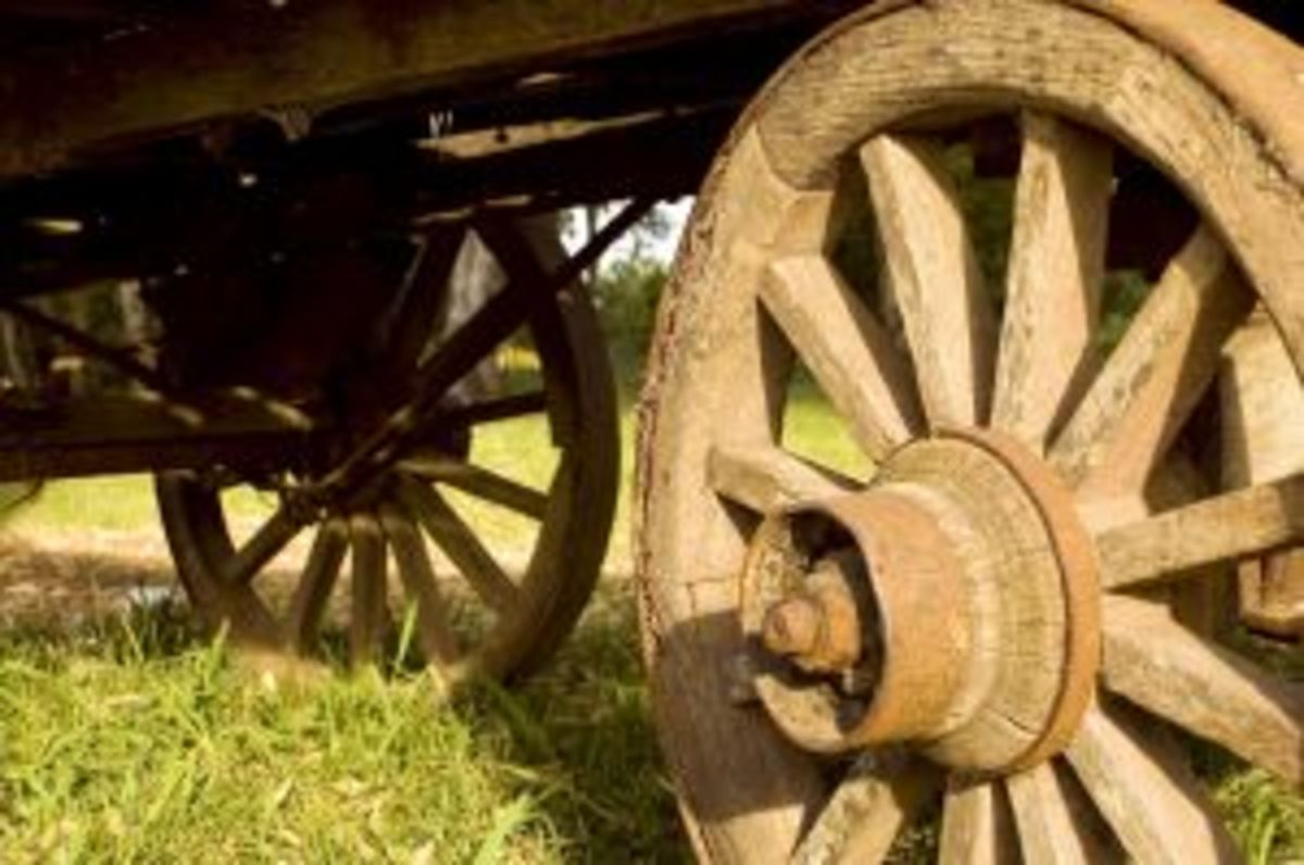 Wooden Wheels on Wagons