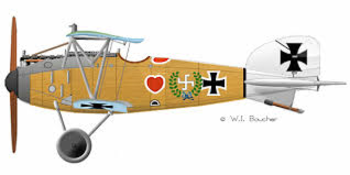 The Albatross D7 - the most prolific fighter aircraft of World War 1. this plane was specifically banned under the Treaty of Versailles