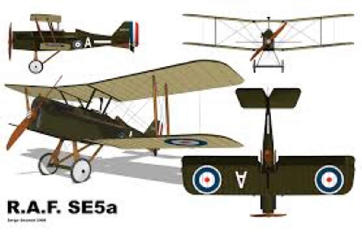 The British SE 5a - a robust aircraft for it's time and a easy flier from all accounts.
