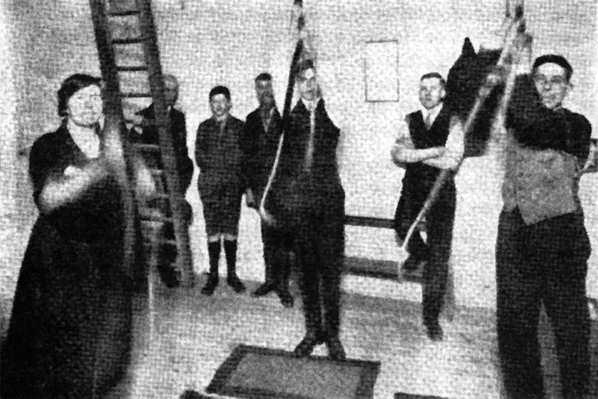 A group of bell ringers in the 1920s
