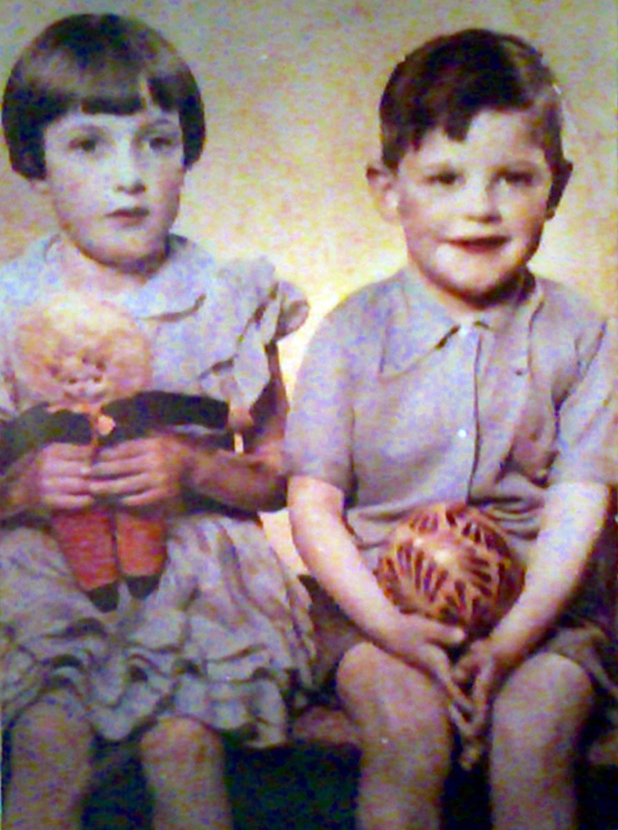 My mum Audrey and her little brother Ken in the early 1930s.