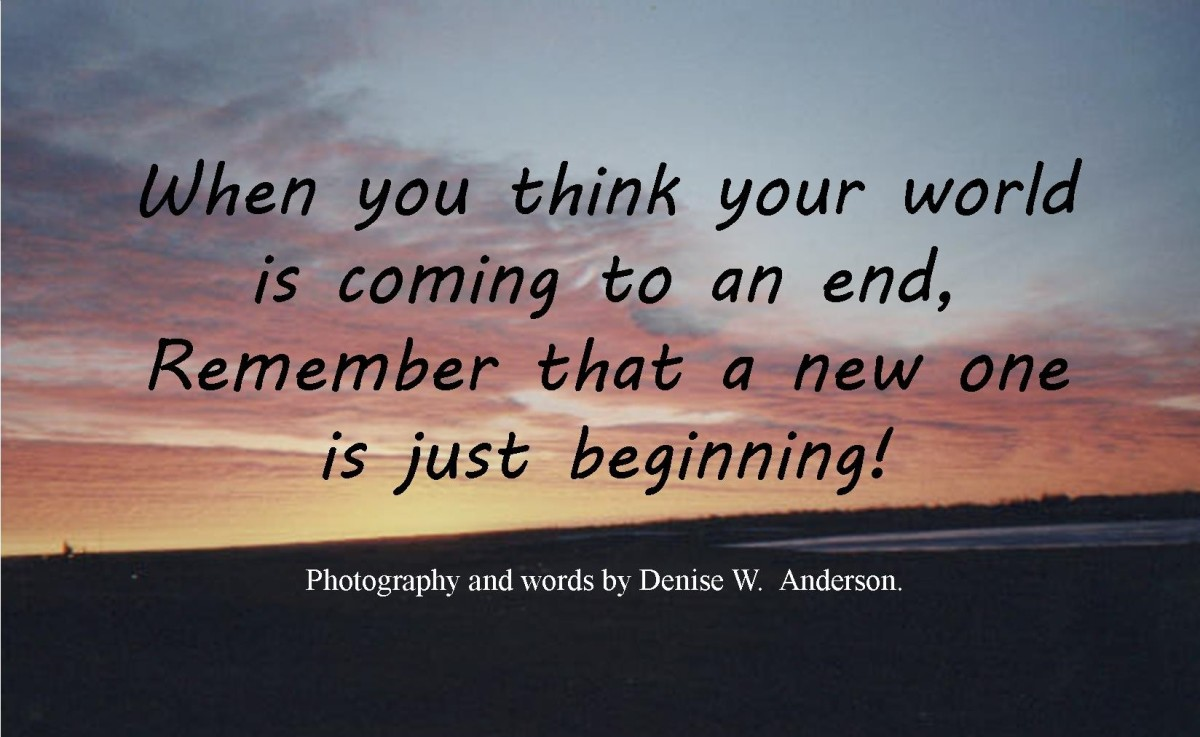 Even when crisis occurs, it is not the end, rather a new beginning.