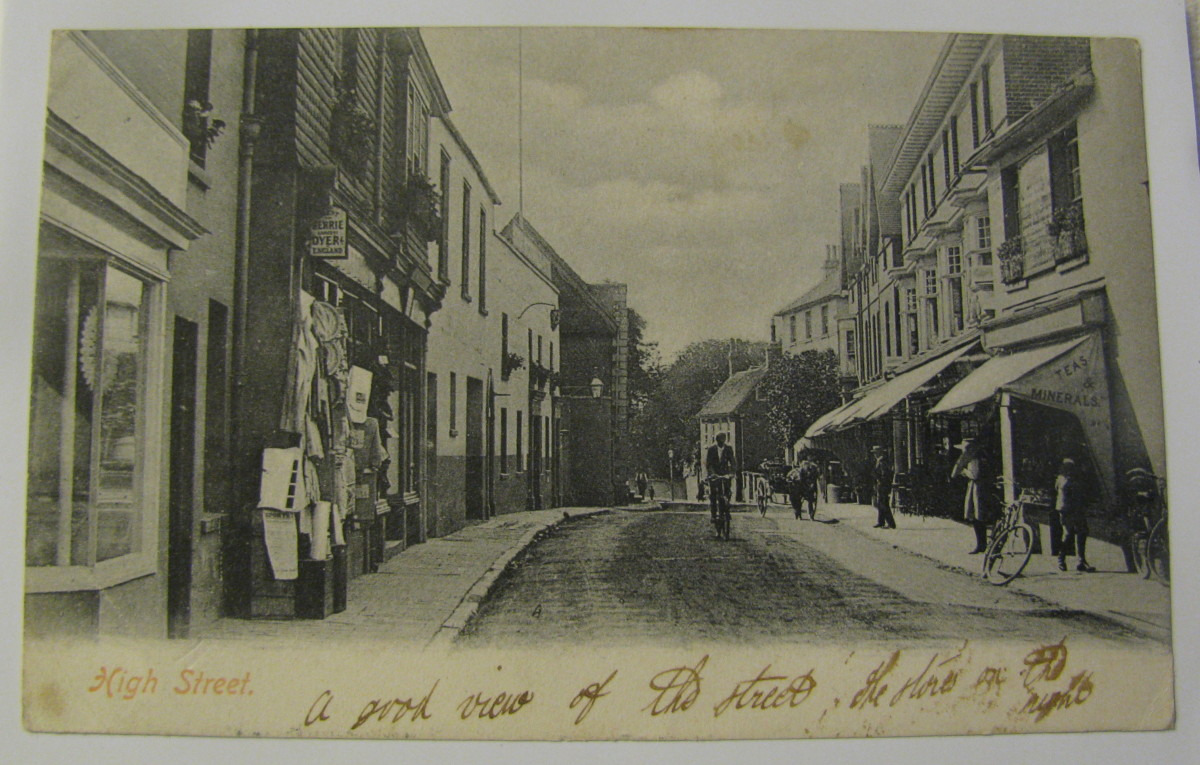 Postcard of the High Street, before my time!