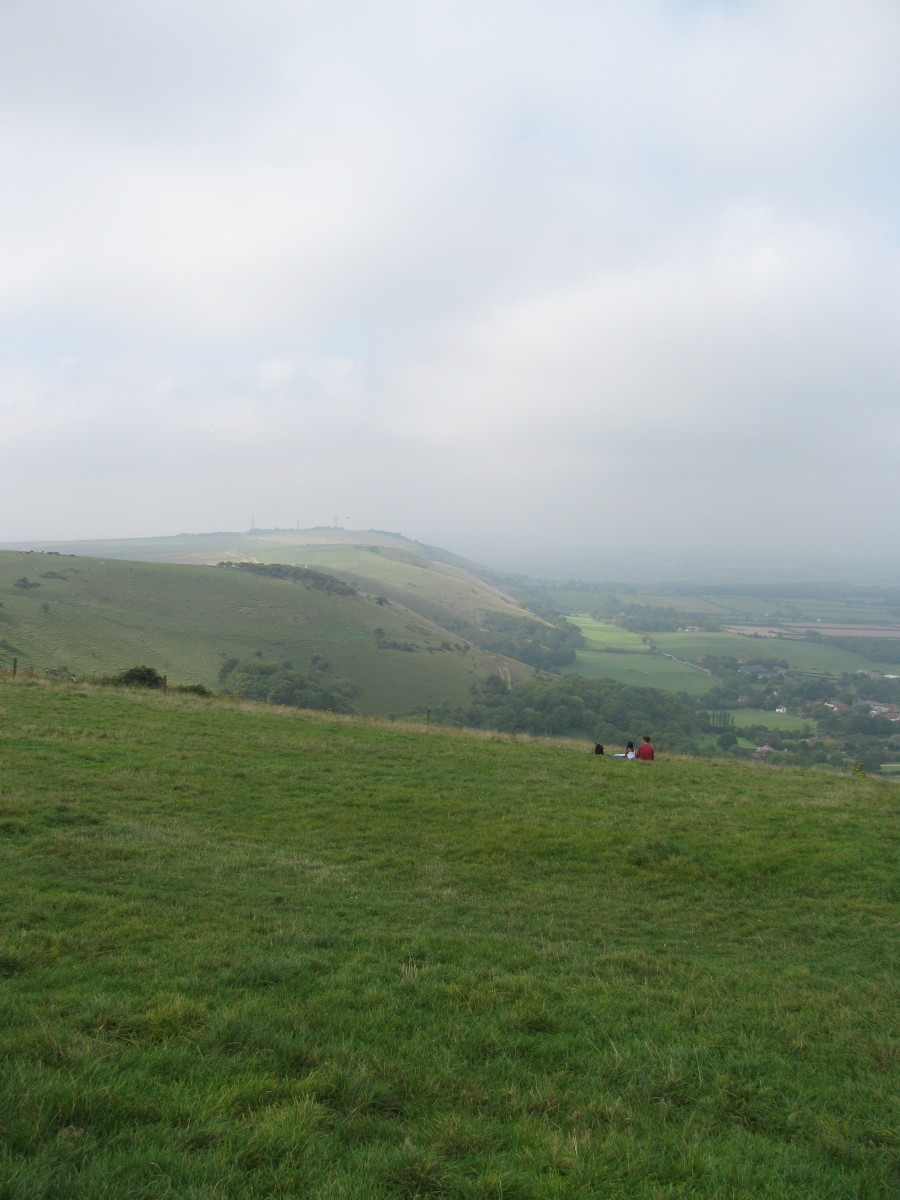 From Devil's Dyke, down the path in the fold, to a flint-decorated village
