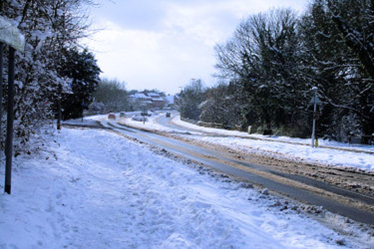 A23 under snow