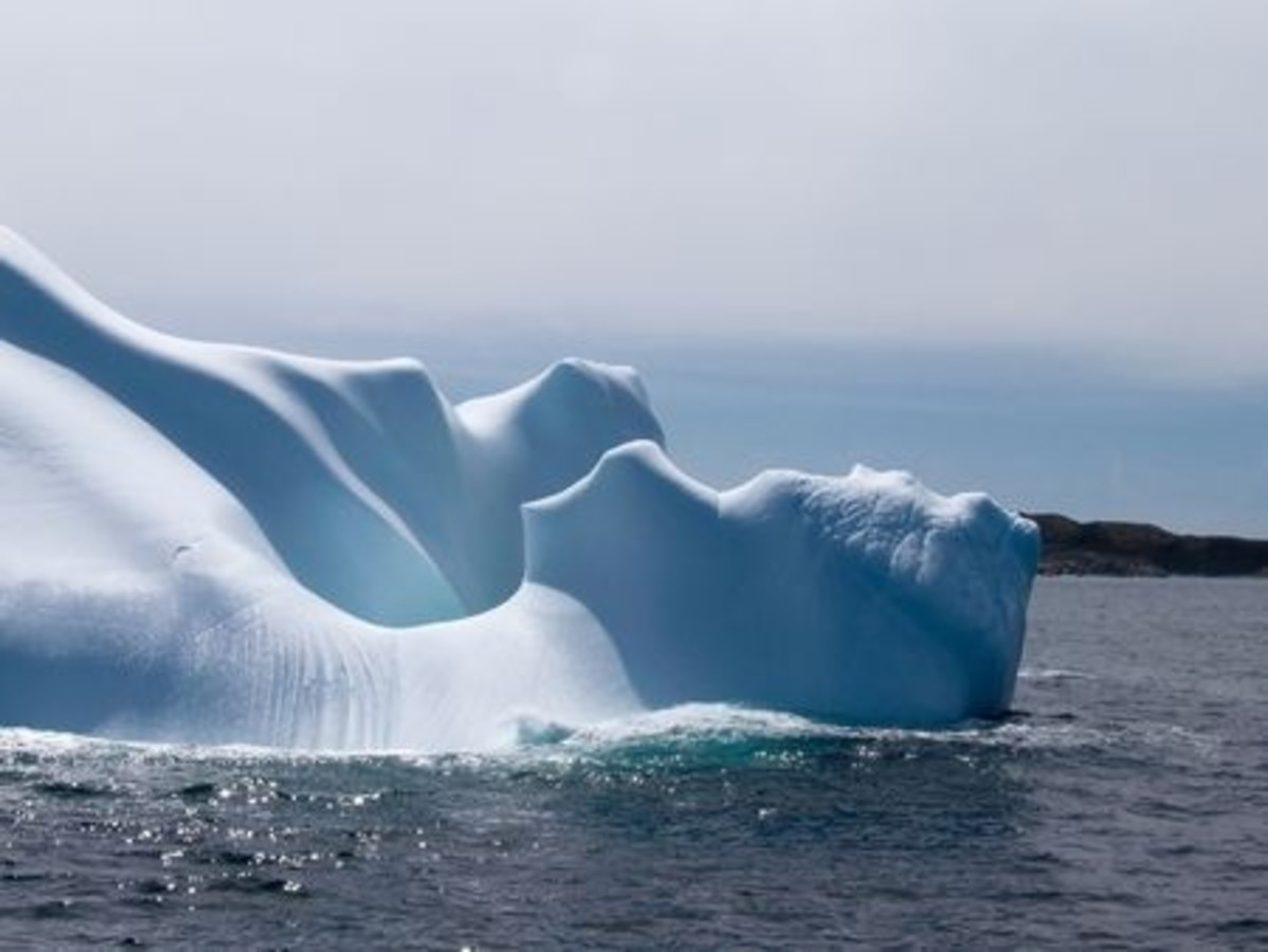 icebergs are treacherous to shipping