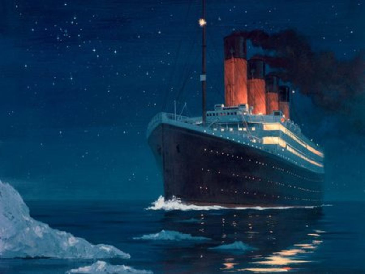 The Titanic is the inspiration for much imaginative artwork