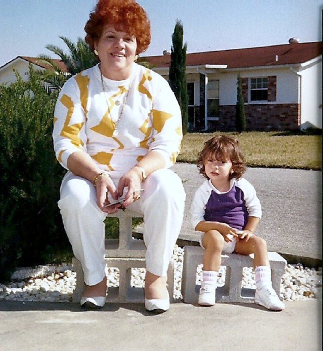 My favorite photo of Mom and my daughter Carissa 1987