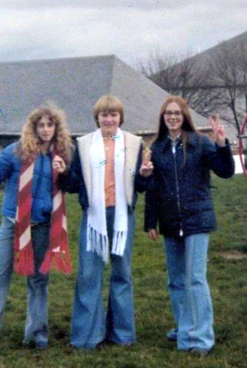 The author (far right) with two junior high school pals at Strassburg Kaserne in Germany in the mid 70s.
