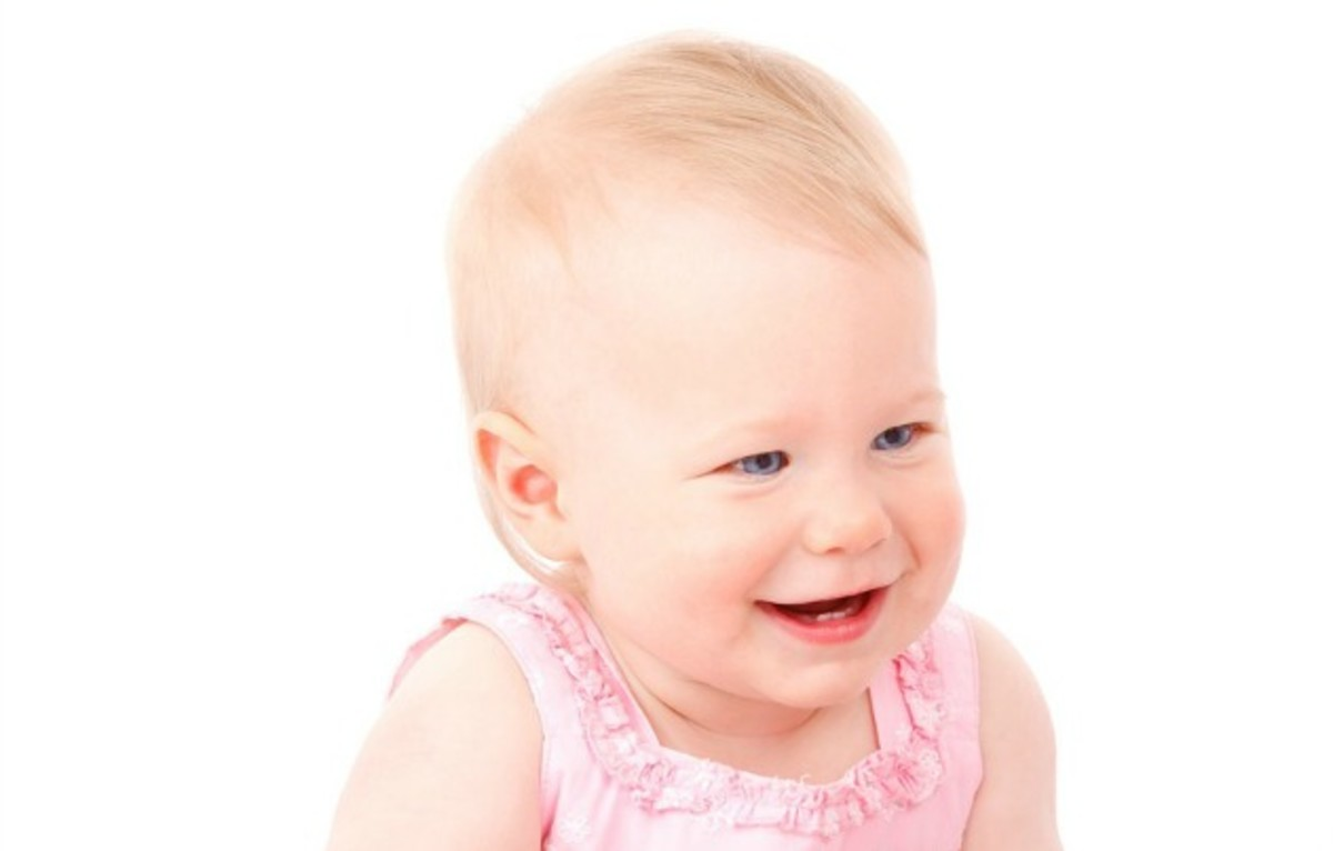 A baby's smile can brighten anyone's day.
