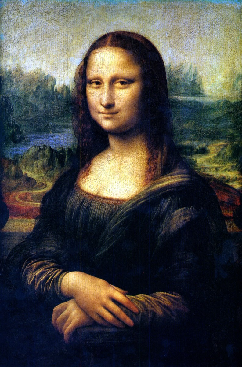 The most famous smile in the world is the smile on the Mona Lisa.