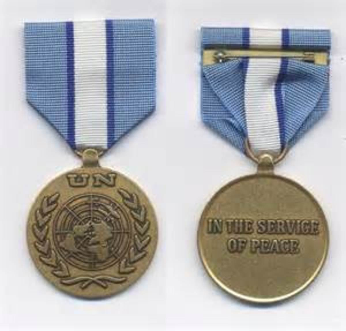 The United Nations Peacekeeper's Medal - Cyprus