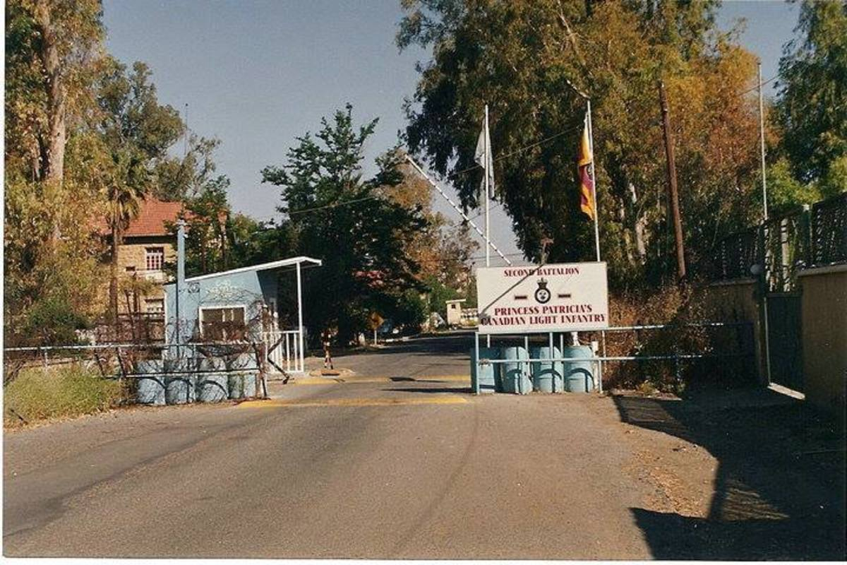 the entrance to Ledra Palace - home to Sector 3 headquarters