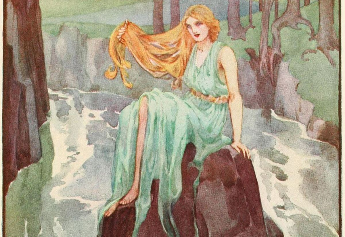 Lorelei was an enchantress who drew sailors to their deaths by the beauty of her singing