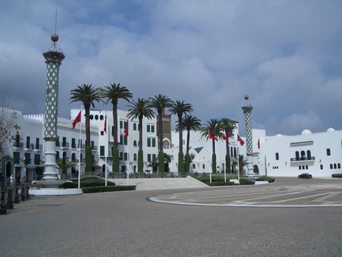 One of the imperial palaces in Tetouan. The King of Morocco has seven palaces