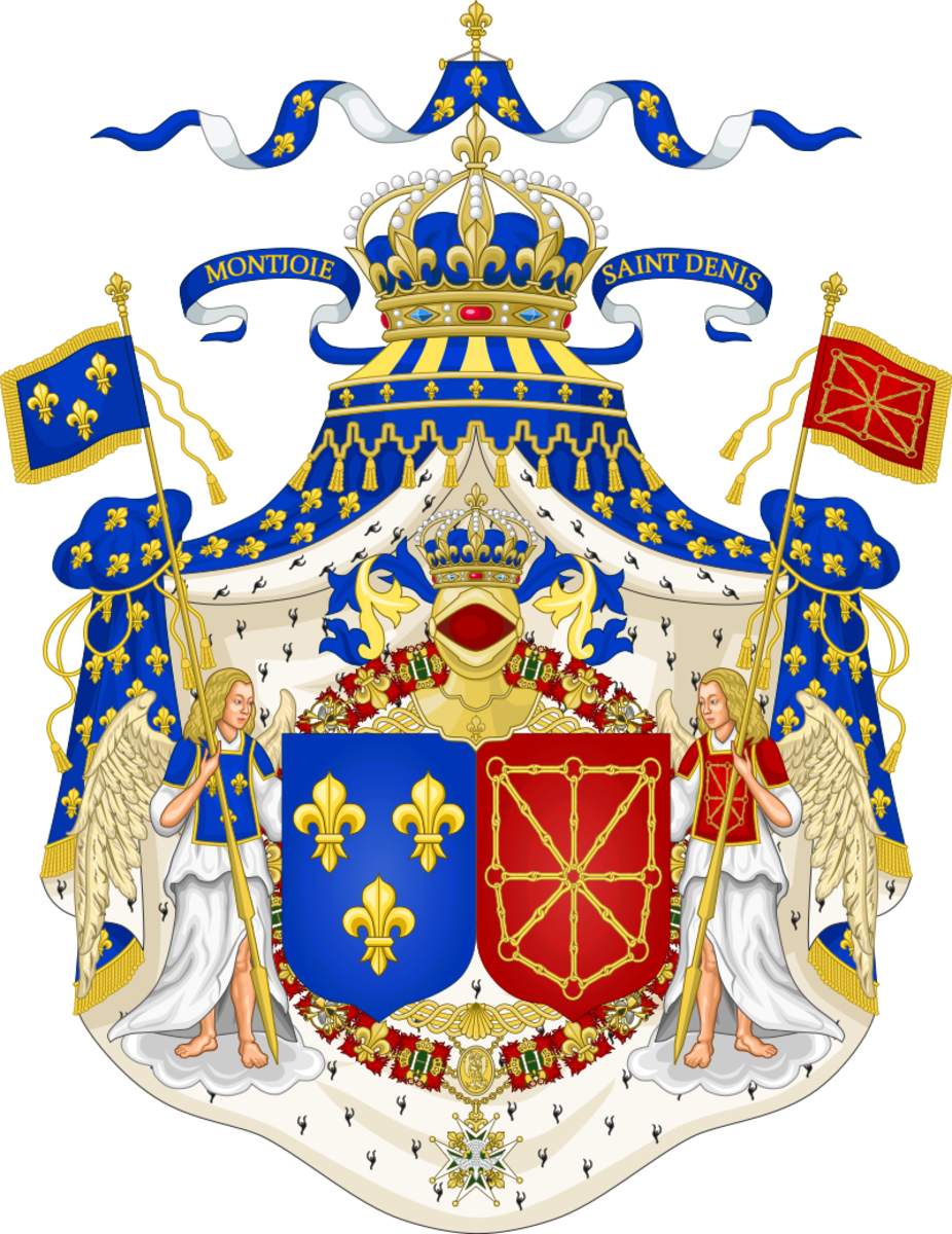 The start of the royal families coat of arms.