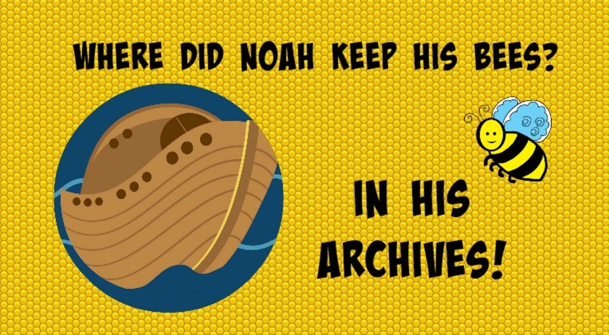 Where did Noah keep his bees? In his archives!