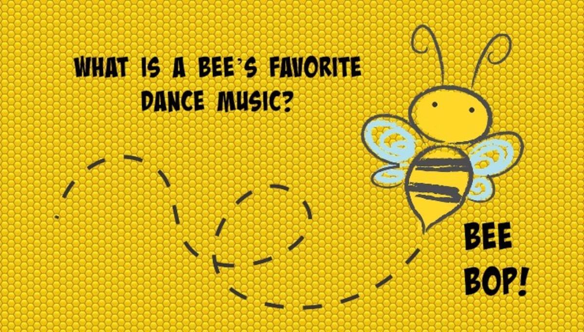 What is a bee's favorite dance music? Bee-bop!