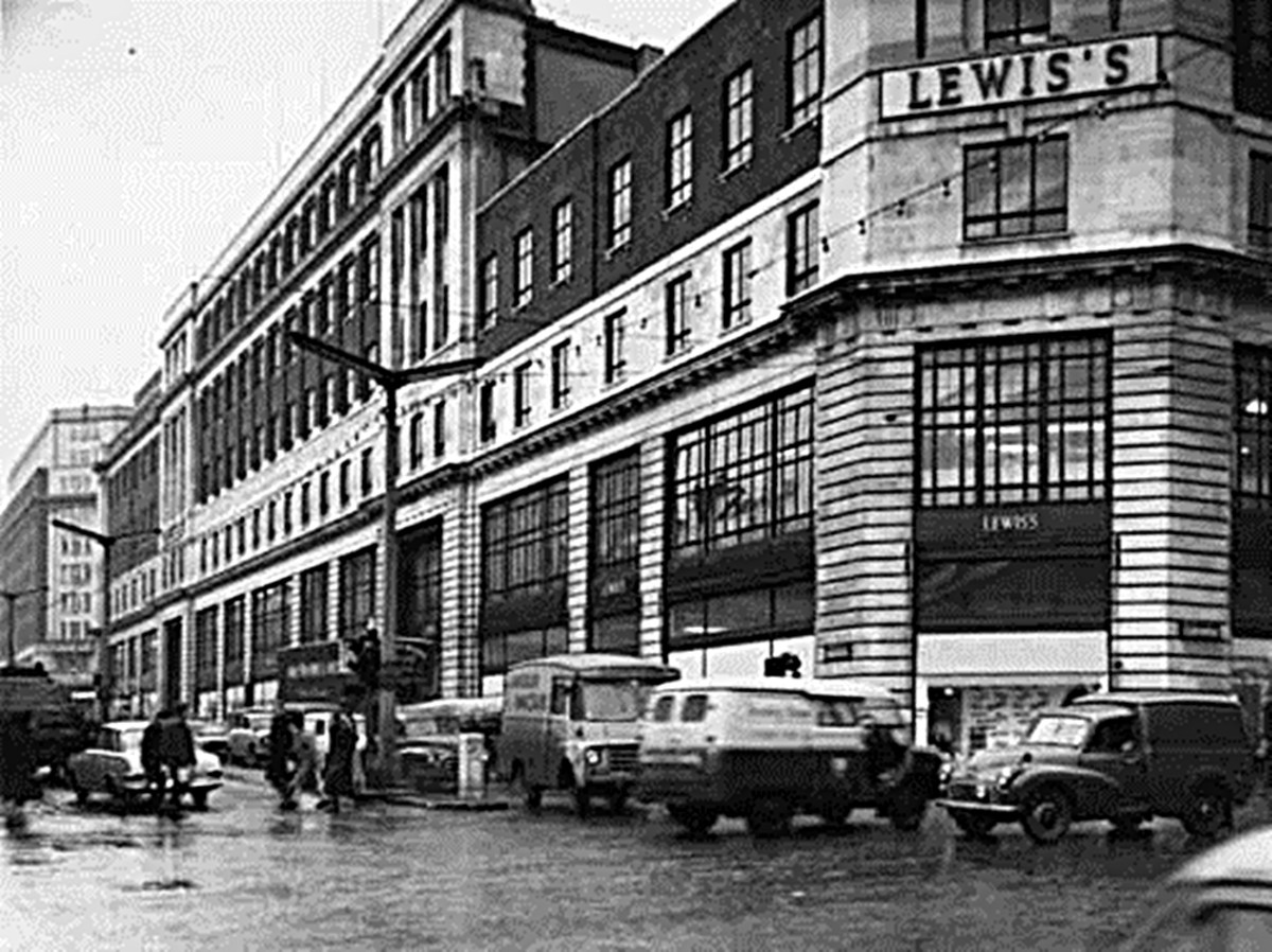 Lewis's department store in Leeds. Designed by architects Atkinson and Shaw and opened on 17 September 1932, it traded there until its eventual closure in 1991.