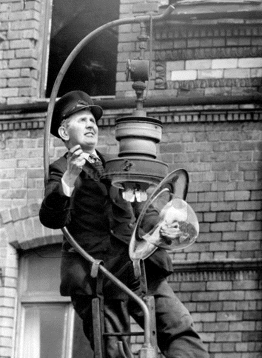 A man would walk round the streets, lighting each gas lamp manually at nightfall, when my mum was a child.