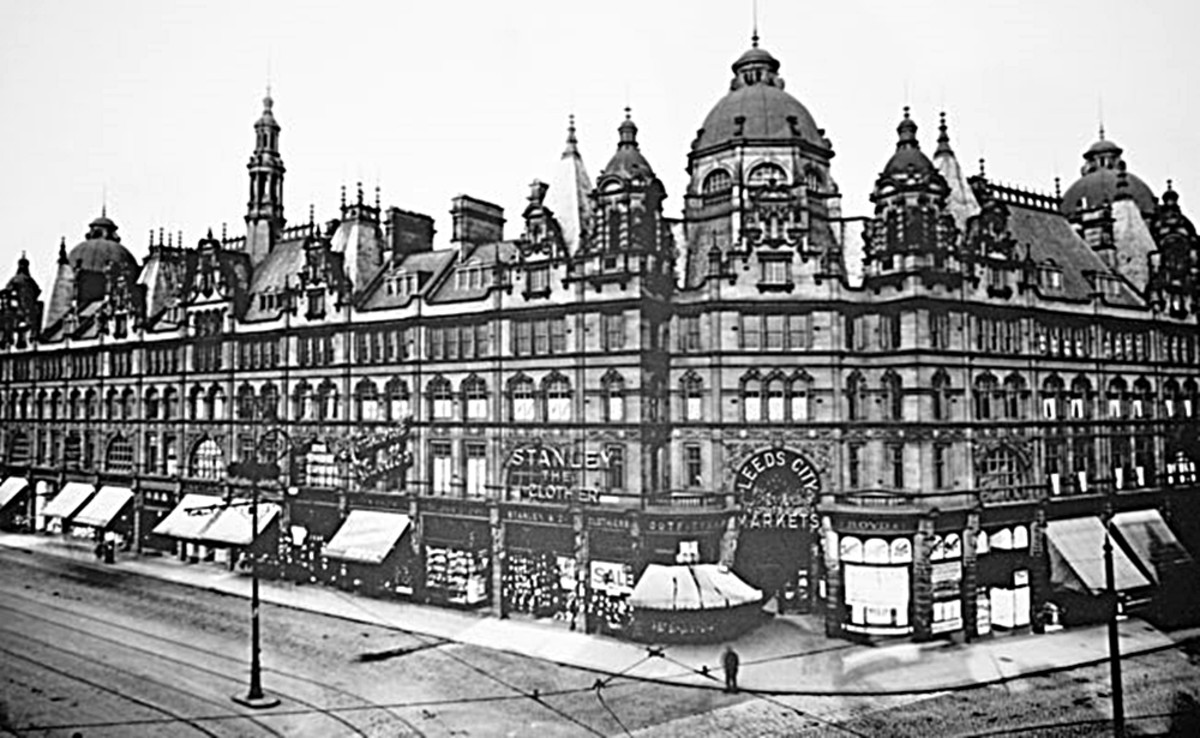 Leeds Market in years gone by.