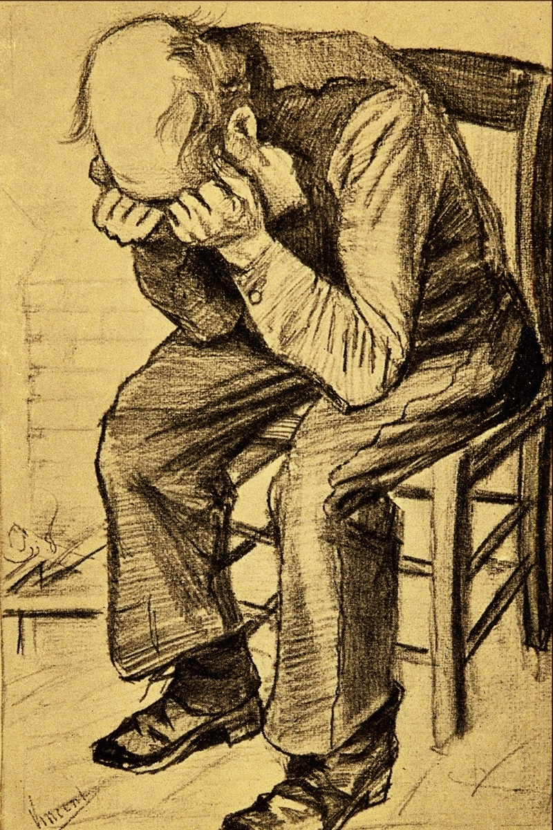 Old Man Grieving