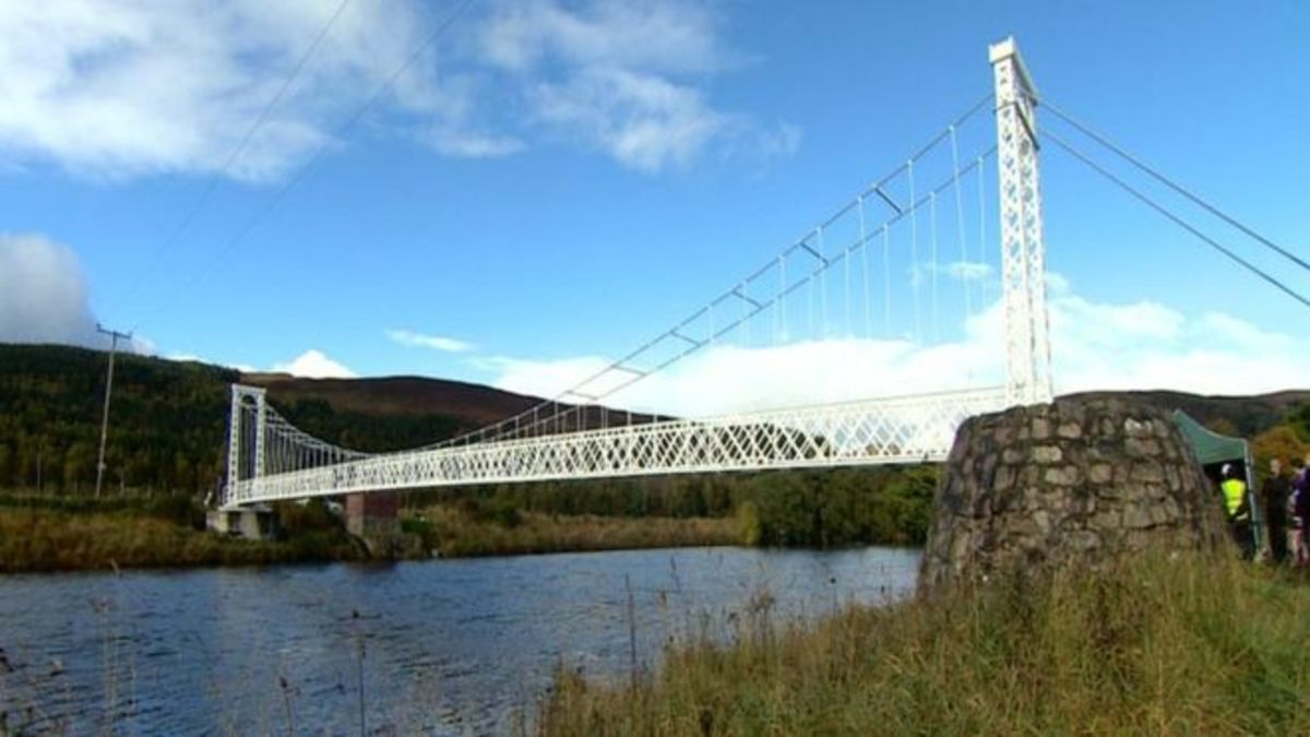 Polhollick bridge near Aberdeen Scotland on the river Dee where my uncle Ron crashed in the whitley.