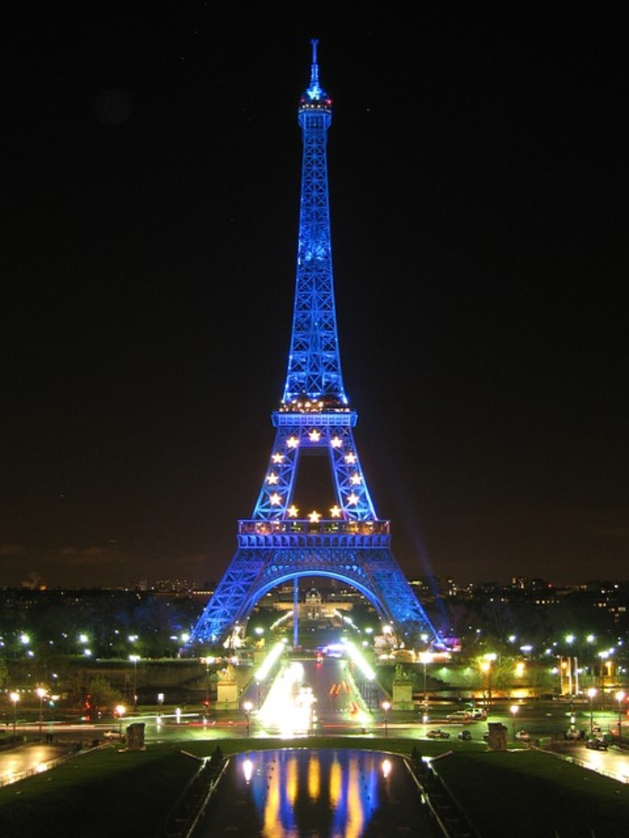 The Eiffel Tower is a symbol of beauty in Paris, France representing light, love and unity.