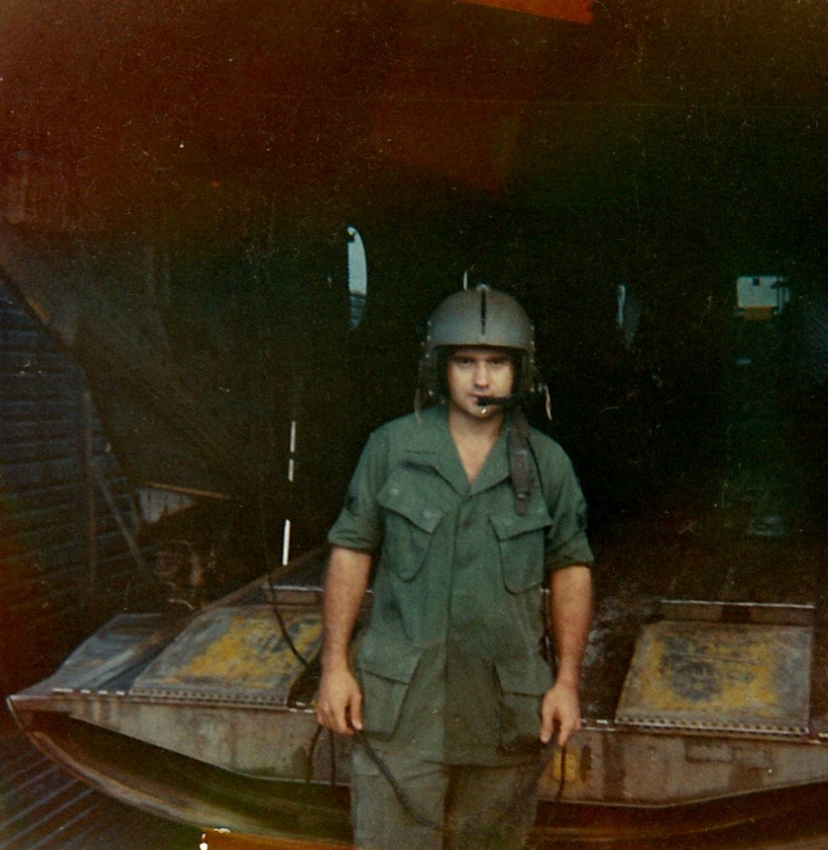 This is my brother, John, while he was in Vietnam.