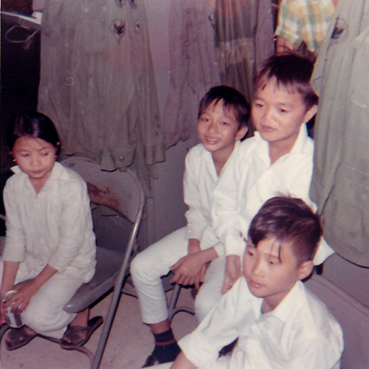 Orphans in Vietnam taken on Thanksgiving Day, 1968