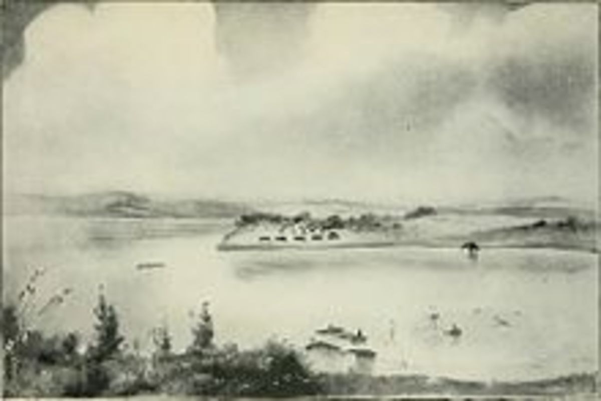 Wikimedia image of 1851 Flood of Des Moines