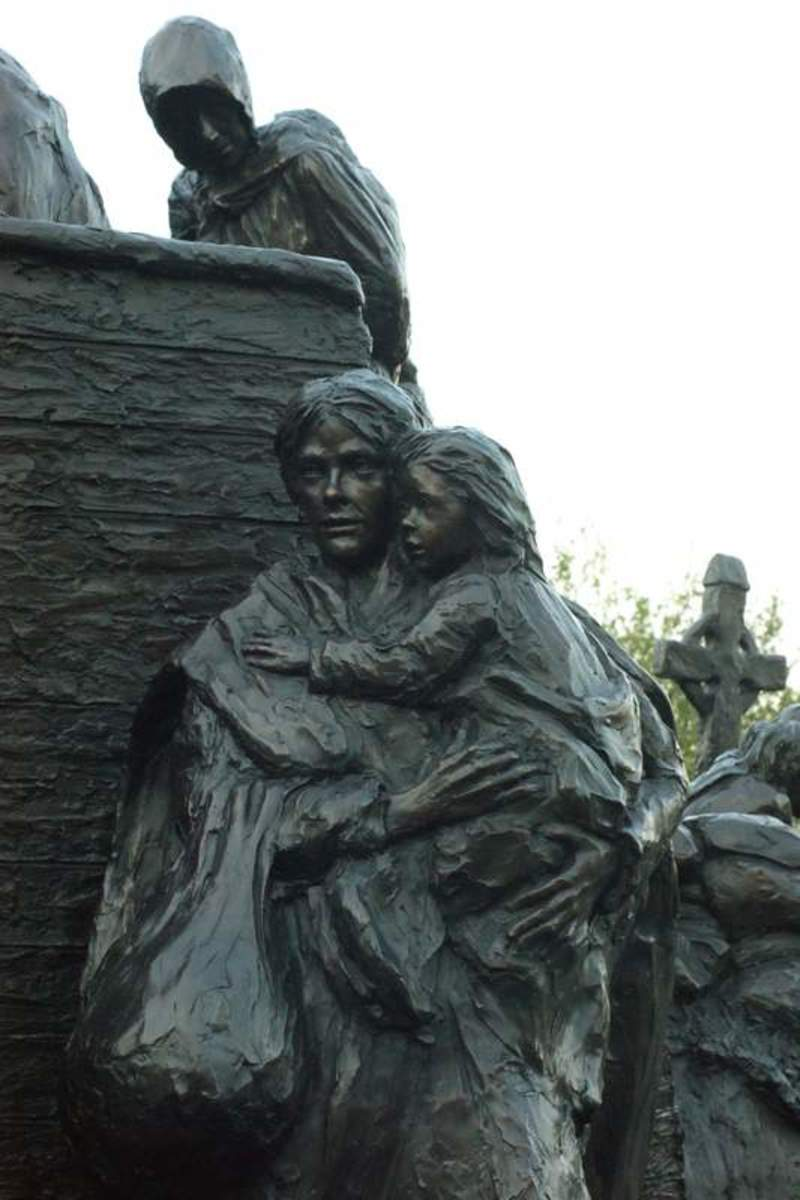 Sculpture of Irish Immigrants to the United States