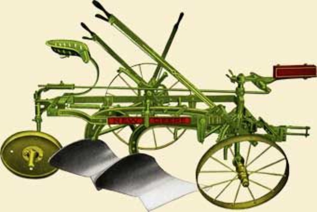 An 1880s plow by Deere & Company
