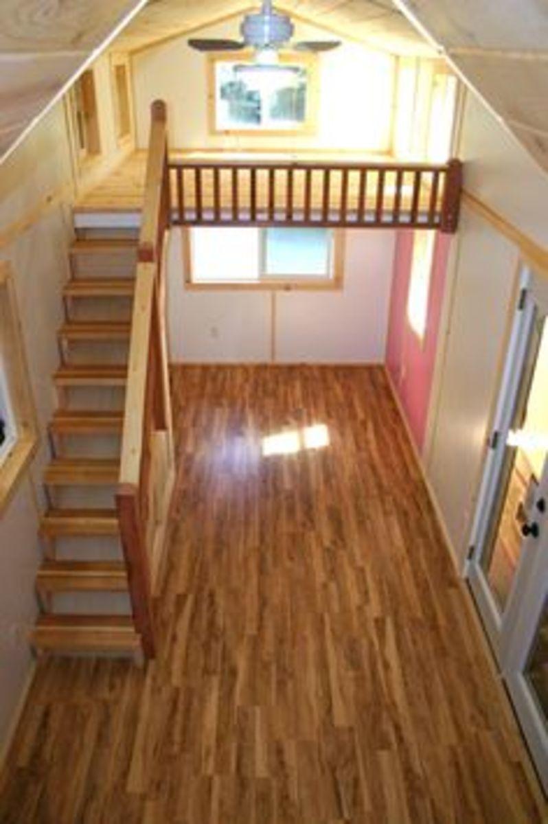 Staircase to sleeping loft