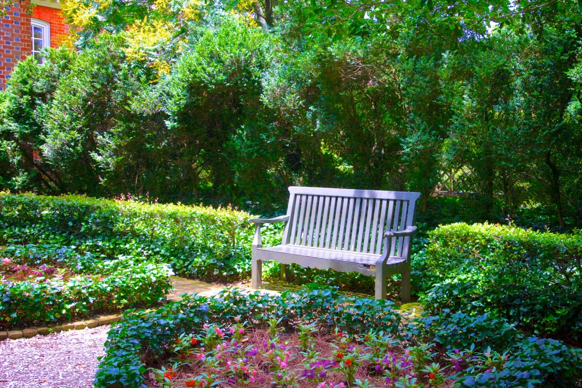 Bench in Flower Garden by Ken Kistler