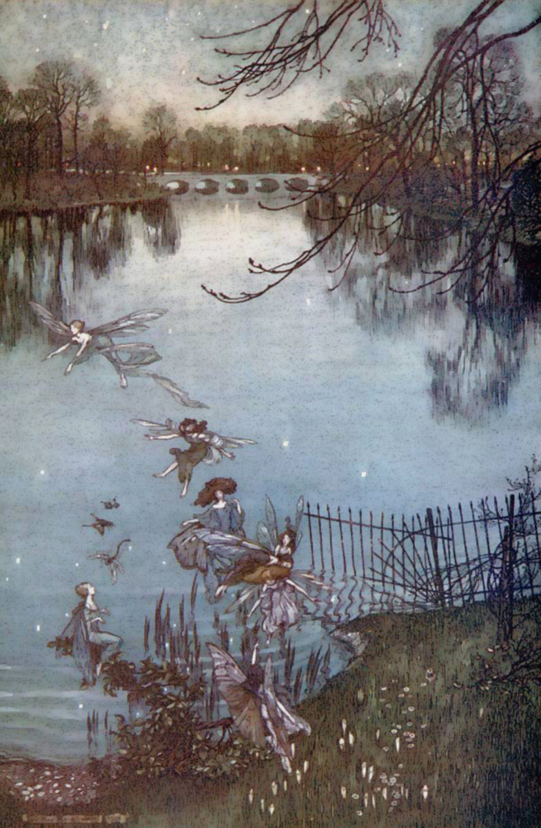 Fairies Along the Water (Serpentine) by Arthur Rackham