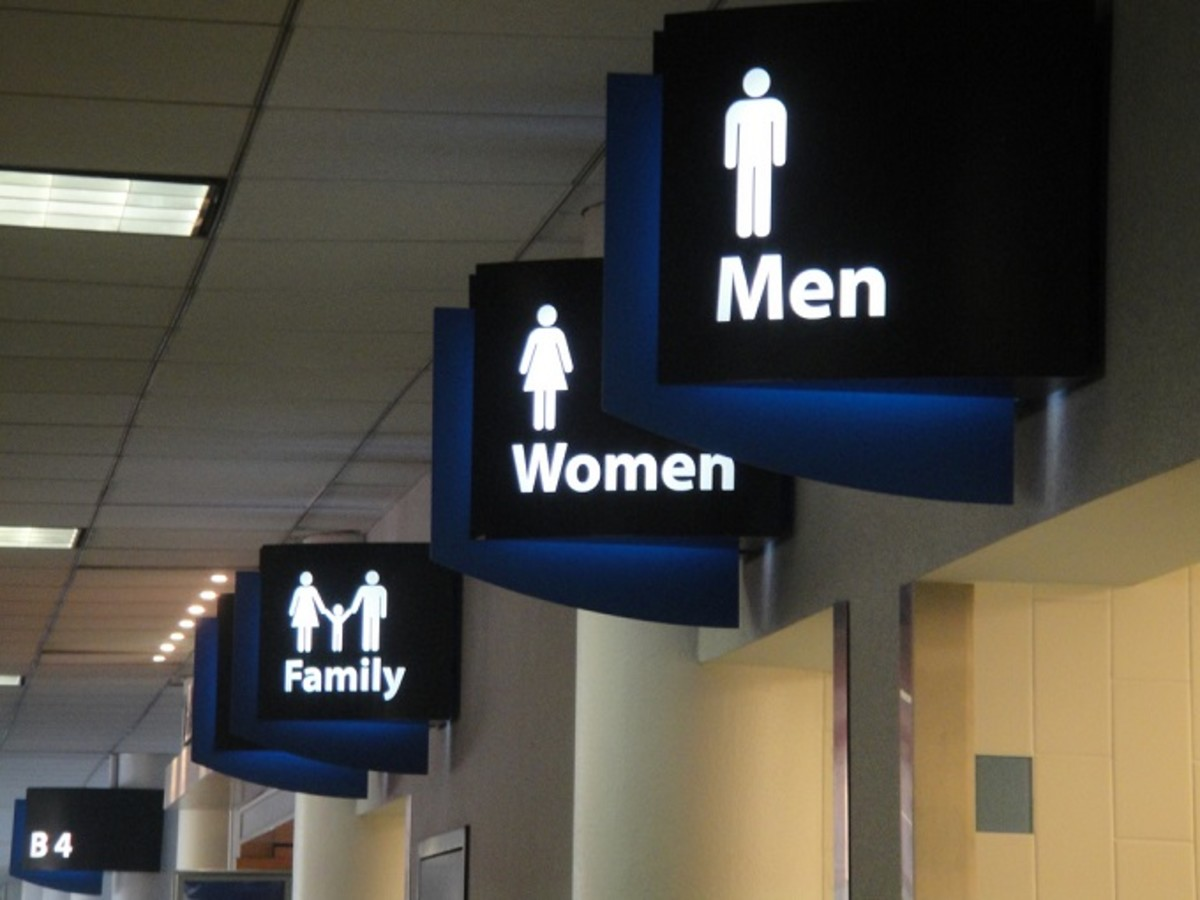 Interior Airport Bathroom