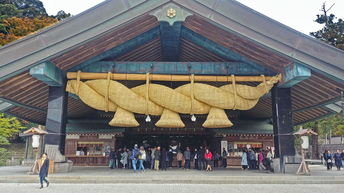 Izumo Shrine in Shimane Prefecture, Japan. The shrine is one of most important in Shintoism. It is also considered the oldest Shinto shrine in Japan.