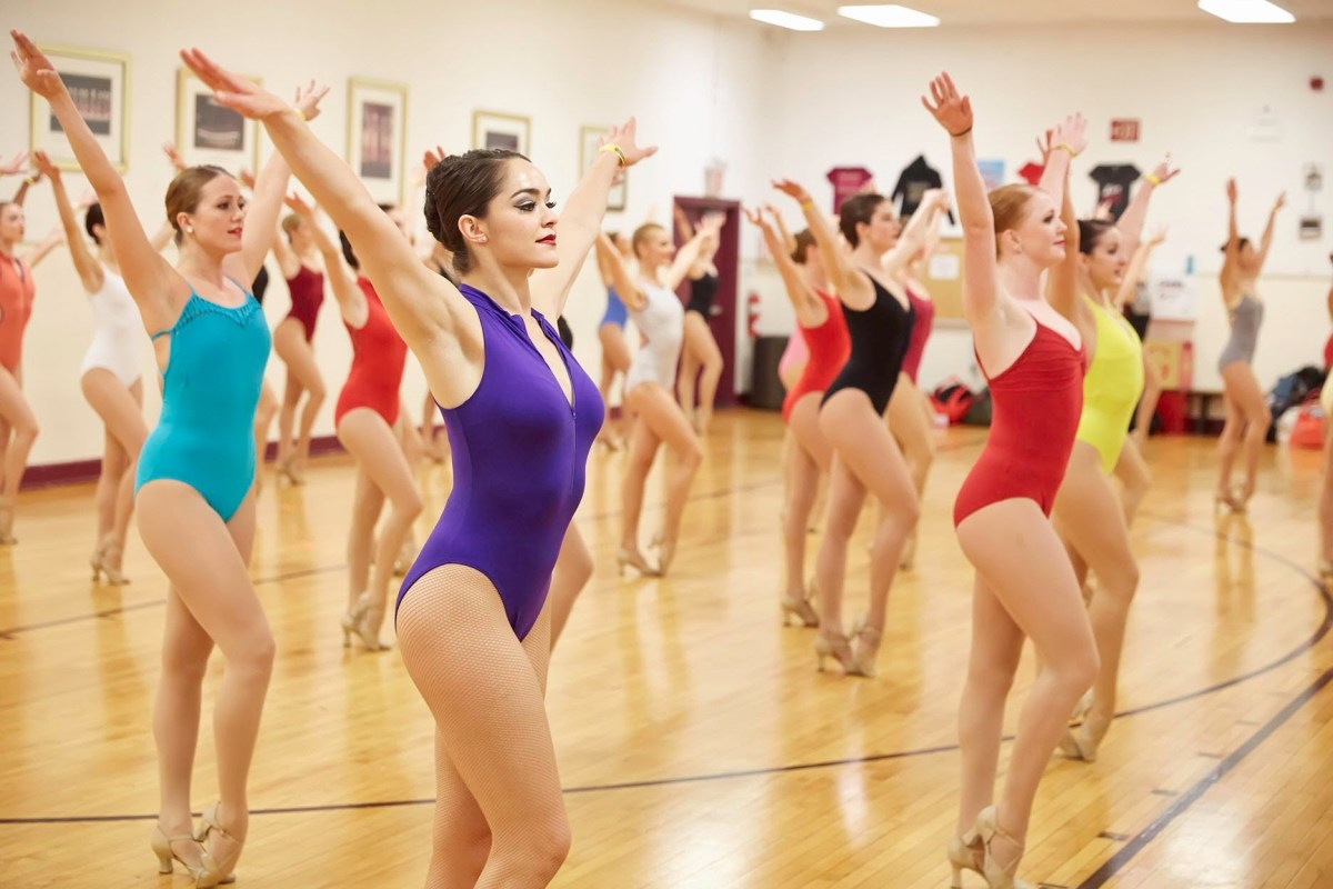 Rockettes rehearse for hours on every dance routine they perform in any given show.