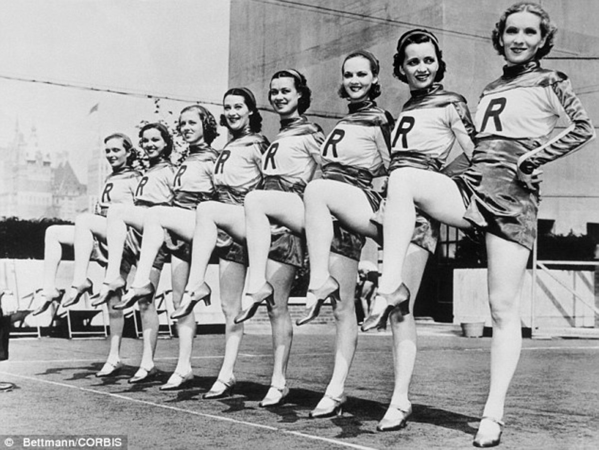 This Rockettes' practice photographed in 1939.