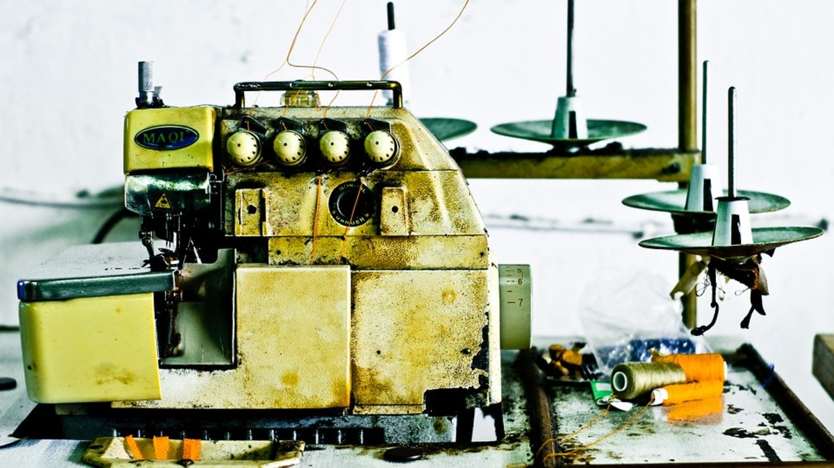 Commercial sewing machine used in typical garment plants in the south.