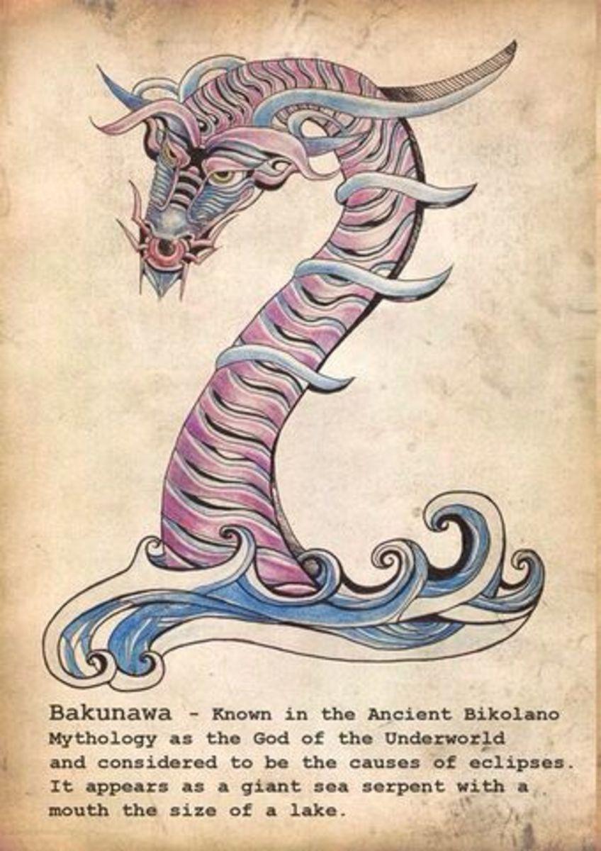 The Bakunawa by the myth of Western Visayas