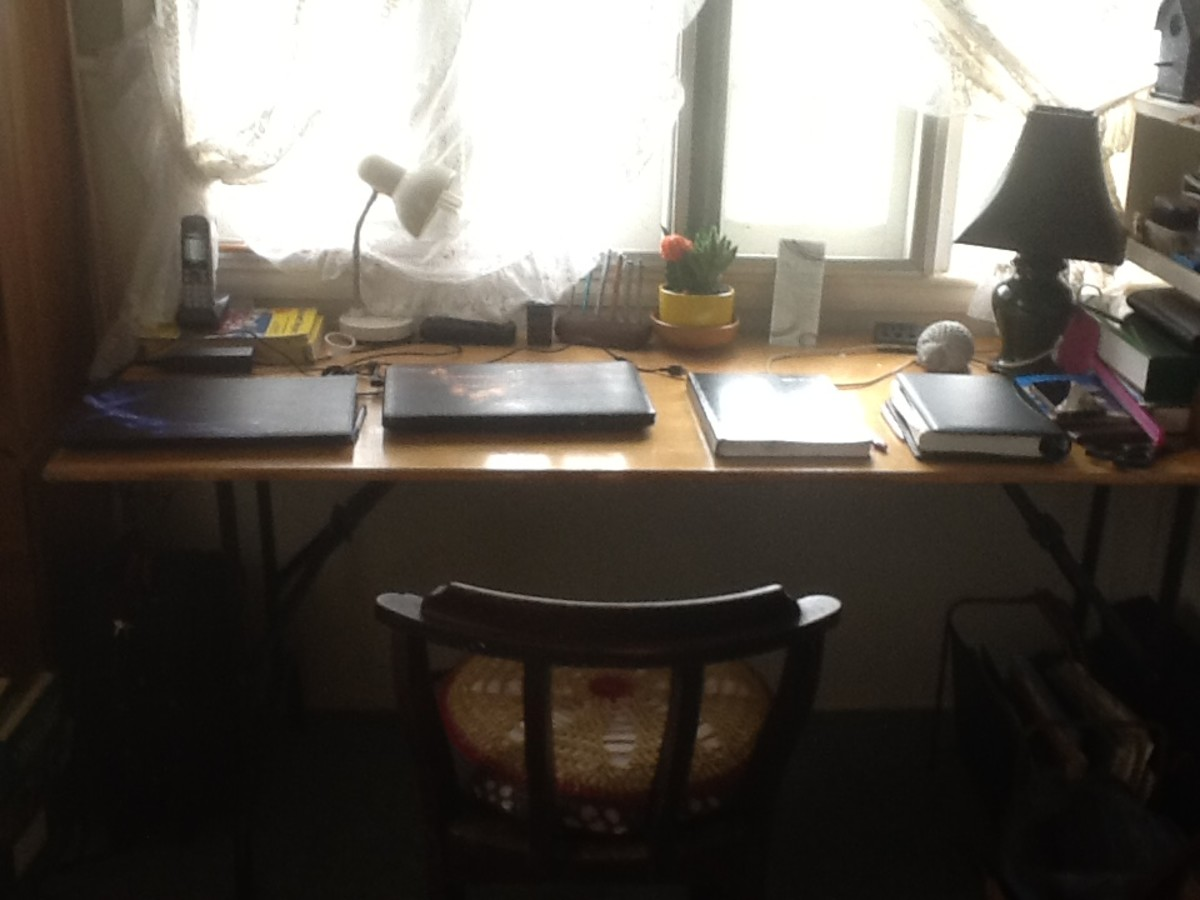 The desk in my new study