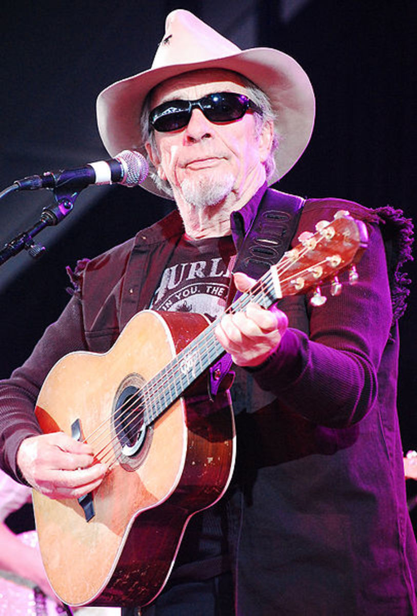 Merle Haggard performing  at Bonnaroo in  Manchester, TN.