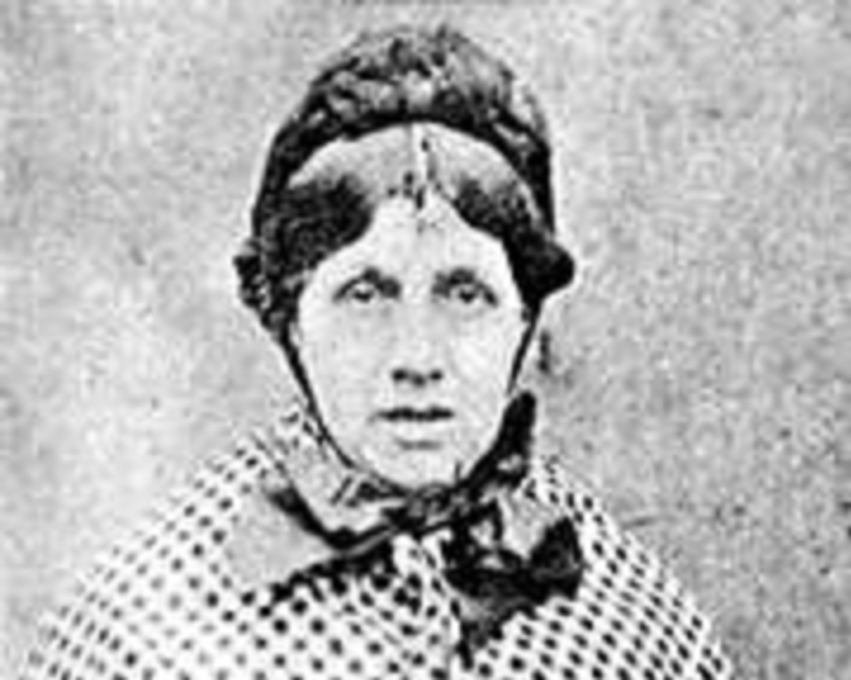 Mary Ann Cotton (Robson) 31 Oct 1832 - 24 March 1873 also known as the Black Widow
