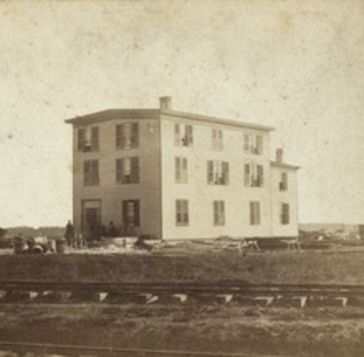 Original Driver's Cottage in Abilene pictured here. A new one was later built in Ellsworth when the railroads moved further west.