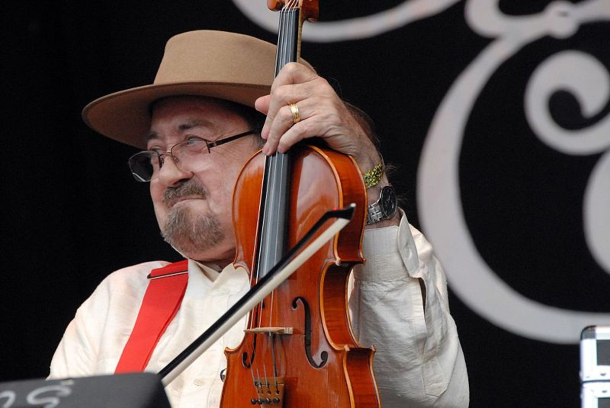 Dave Swarbrick, master fiddler, seen in this photo after several battles with his health that prompted Swarbrick to keep giving it his all to not just to recover from sickness, but keep playing his fiddle.