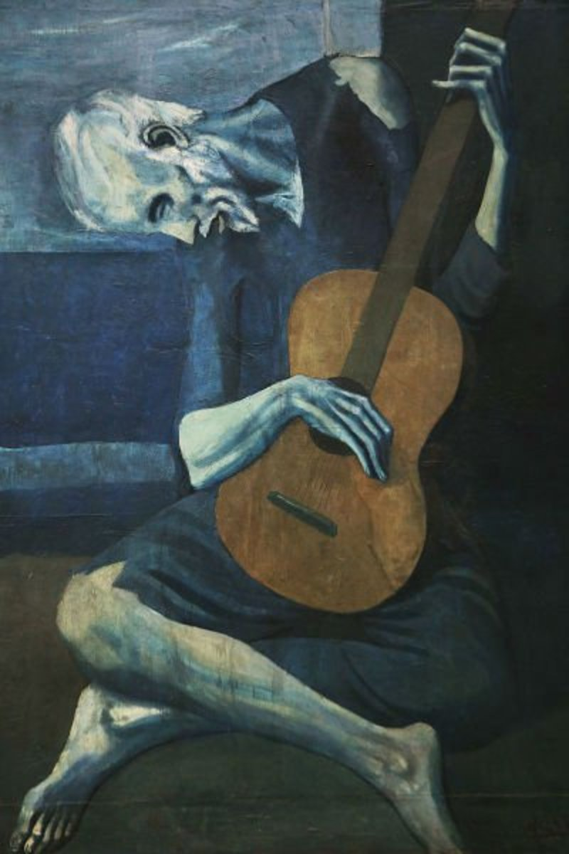 """The Old Guitarist"" by Pablo Picasso (1903)"