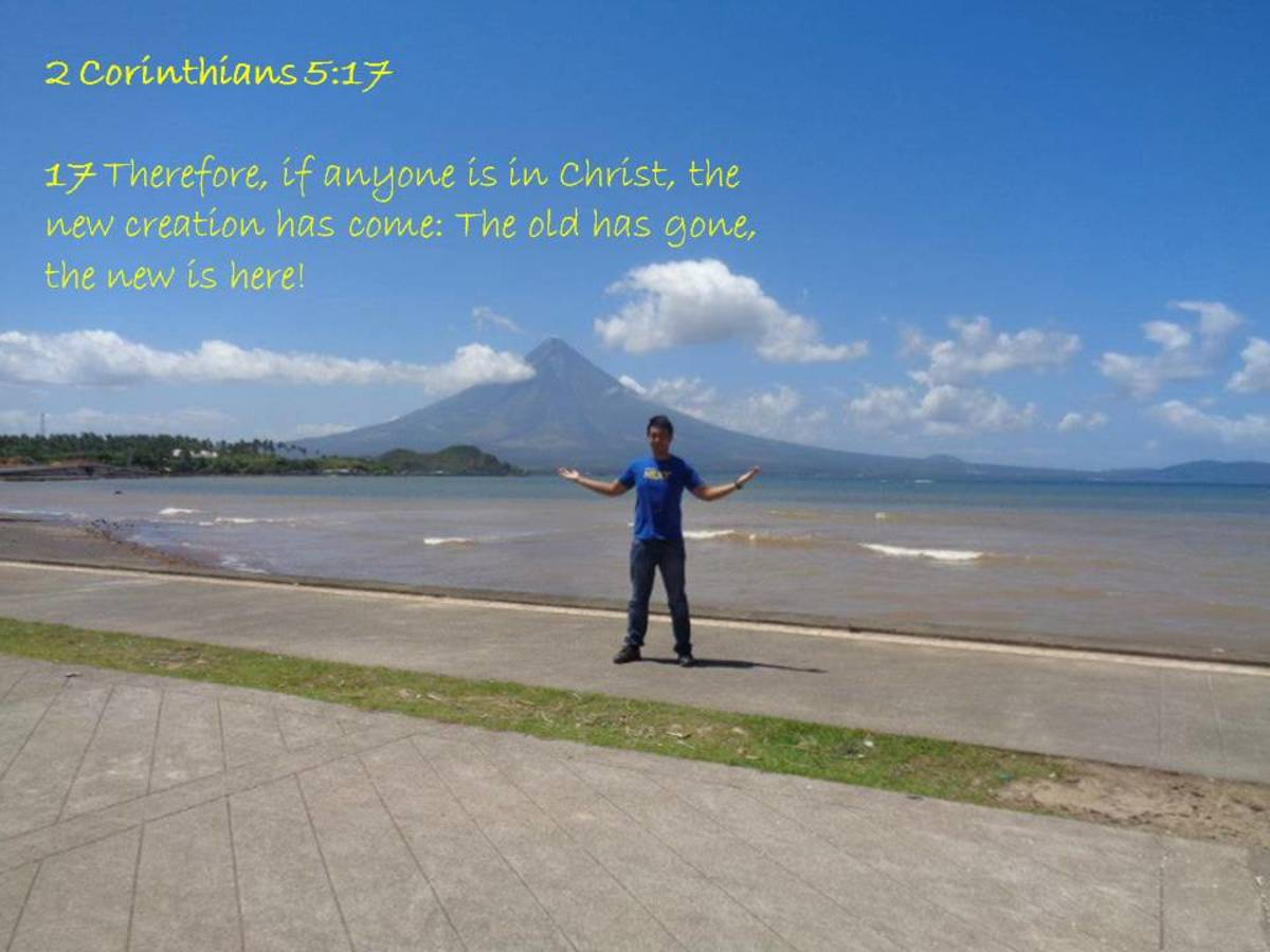 The author with the Majestic Mayon Volcano as background.
